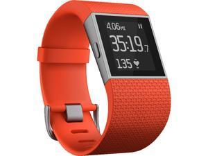 Fitbit Surge Heart Rate Activity Tracker GPS Super Watch Tangerine Large