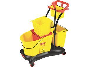 Wavebrake 35 Quart Mopping Trolley Side Press, Yellow