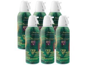 Compucessory 24306 Air Duster Cleaner, Moisture-free/Ozone-safe,10 oz. Can, 6/PK, Sold as 1 Package