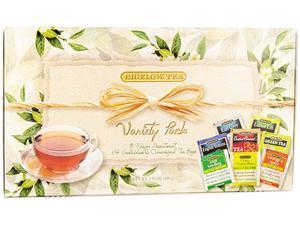 Green Tea Assortment, Individually Wrapped, Eight Flavors, 64 Tea Bags