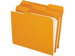 Pendaflex Two-Ply Reinforced File Folders, 1/3 Cut Top Tab, Letter, Orange, 100/Box