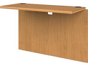 "HON 10700 Series Prestigious Laminate Furniture 42"" W x 20"" D x 29.5"" H - Waterfall Edge - Hardwood - Harvest, Laminate 107398CC"