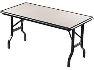 IndestrucTables Resin Rectangular Folding Table 60w x 30d x 29h Granite/Black
