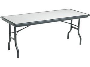"Iceberg 65127 IndestrucTable Folding Table Rectangle - 30"" x 72"" x 29"" - Polyethylene - Granite"