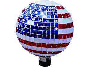 Mosaic Glass Stars And Stripes Gazing Globe