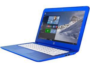 HP Stream P3U33UA 13-c110nr Notebook PC - Intel Celeron N3050 1.6 GHz Dual-Core Processor - 2 GB DDR3L SDRAM - 32 GB eMMC Storage - 13.3-inch Display - Windows 10 Home 64-bit Edition - Blue