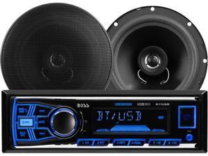 BOSS Audio 638BCK 611UAB Mechless Bluetooth®Enabled/Audio Streaming, MP3 Digital Media Receiver/Speaker Package System