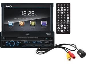 "BOSS Audio BVB9967RC In-Dash Single-DIN 7"" Motorized Touchscreen Monitor with Detachable Front Panel Bluetooth DVD Player"