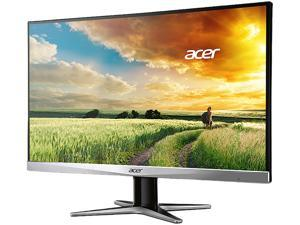 "Acer G247HYU 23.8"" IPS WQHD Black/Silver LED Monitor 2560x1440 (2K) 4ms Response Time, 16:9 Aspect Ratio, DVI/HDMI/DisplayPort, Tilt Capable with Built-in Speakers"