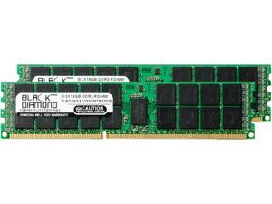 Black Diamond Memory 32GB (2 x 16GB) 240-Pin DDR3 SDRAM DDR3 1333 (PC3 10600) ECC Registered System Specific Memory Model BD16GX21333MTR23DE
