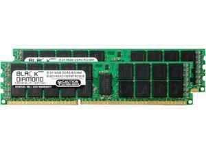 Black Diamond Memory 32GB (2 x 16GB) 240-Pin DDR3 SDRAM DDR3 1333 (PC3 10600) ECC Registered System Specific Memory Model BD16GX21333MTR23DE