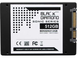 "Black Diamond Memory Sonic Series BDSSDS512G 2.5"" 512GB SATA III Internal Solid State Drive"