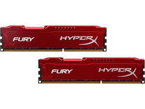 HyperX FURY 16GB (2 x 8GB) 240-Pin DDR3 SDRAM DDR3 1333 (PC3 10600) Desktop Memory Model HX313C9FRK2/16