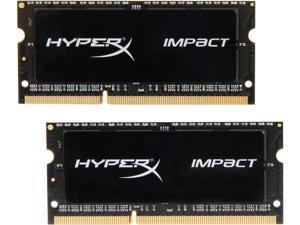 HyperX Impact 16GB (2 x 8G) 204-Pin DDR3 SO-DIMM DDR3L 1600 (PC3L 12800) Laptop Memory Model HX316LS9IBK2/16