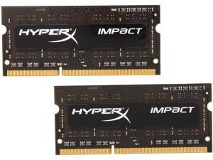 HyperX Impact Black Series 8GB (2 x 4GB) 204-Pin DDR3 SO-DIMM DDR3L 1600 (PC3L 12800) Laptop Memory Model HX316LS9IBK2/8
