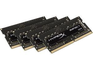 HyperX Impact 64GB (4 x 16G) 260-Pin DDR4 SO-DIMM DDR4 2133 (PC4 17000) Laptop Memory Model HX421S14IBK4/64