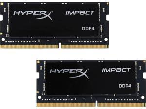 HyperX Impact 32GB (2 x 16G) 260-Pin DDR4 SO-DIMM DDR4 2400 (PC4 19200) Laptop Memory Model HX424S14IBK2/32