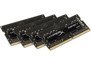 HyperX Impact 32GB (4 x 8G) 260-Pin DDR4 SO-DIMM DDR4 2400 (PC4 19200) Laptop Memory Model HX424S15IBK4/32