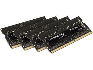 HyperX Impact 64GB (4 x 16G) 260-Pin DDR4 SO-DIMM DDR4 2400 (PC4 19200) Laptop Memory Model HX424S15IBK4/64