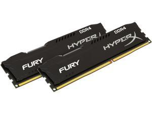 HyperX Fury 16GB (2 x 8GB) DDR4 2400 RAM (Desktop Memory) CL15 XMP Black DIMM (288-Pin) HX424C15FB2K2/16