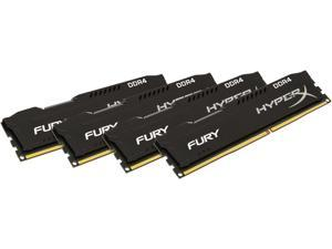 Kingston HyperX Fury 64GB (4 x 16G) DDR4 2400 Desktop Memory DIMM (288-Pin) RAM HX424C15FBK4/64