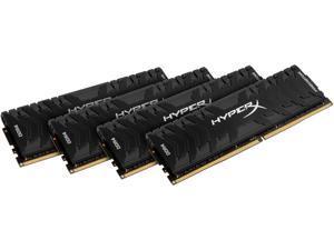 HyperX Predator 32GB (4 x 8GB) DDR4 3200 RAM (Desktop Memory) CL16 XMP Black DIMM (288-Pin) HX432C16PB3K4/32