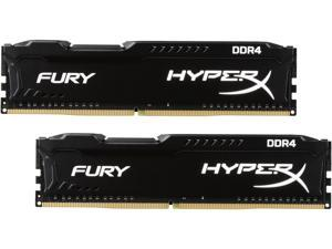 HyperX Fury 8GB (2 x 4GB) DDR4 2400 RAM (Desktop Memory) CL15 1.2V XMP Black DIMM (288-Pin) Sleeved HX424C15FBK2/8-SLV