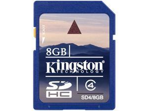 Kingston 8GB Secure Digital High-Capacity (SDHC) Flash Card Model SD4/8GB