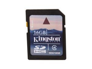 Kingston 16GB Secure Digital High-Capacity (SDHC) Flash Card Model SD4/16GB