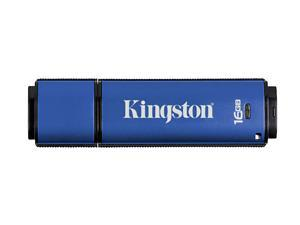 Kingston DataTraveler Vault - Privacy Edition 16GB Flash Drive (USB2.0 Portable) 256bit AES Encryption Model DTVP/16GB