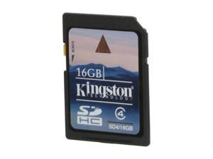 Kingston 16GB Secure Digital High-Capacity (SDHC) Flash Card Model SD4/16GBET