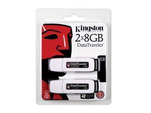 Kingston DataTraveler 16GB (8GB x 2) USB2.0 Flash Drive Twin Pack (2pcs)