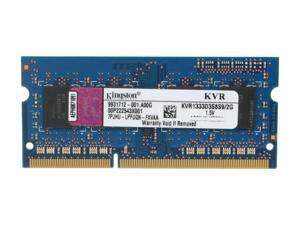Kingston ValueRAM 2GB 204-Pin DDR3 SO-DIMM DDR3 1333 (PC3 10600) Notebook Memory Model KVR1333D3S8S9/2G