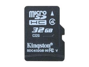 Kingston 32GB microSDHC Flash Card Model SDC4/32GBSP