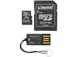 Kingston 4GB microSDHC Flash Card Bundle Kit (with a full-size SD adapter and USB reader) Model MBLY4G2/4GB