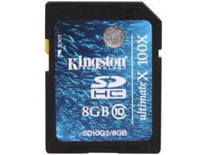 Kingston 8GB Secure Digital High-Capacity (SDHC) Flash Card Model SD10G2/8GB