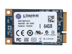 Kingston SSDNow mS100 SMS100S2/64G 64GB Mini-SATA (mSATA) Internal Solid State Drive (SSD)