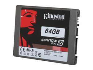 "Kingston SSDNow V200 Series SV200S37A/64G 2.5"" 64GB SATA III Internal Solid State Drive (SSD) (Stand-alone drive)"