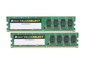 CORSAIR 4GB (2 x 2GB) 240-Pin DDR2 SDRAM DDR2 800 (PC2 6400) Desktop Memory Model VS4GBKIT800D2 G