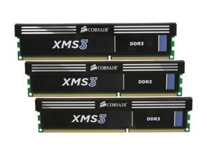 CORSAIR XMS3 6GB (3 x 2GB) 240-Pin DDR3 SDRAM DDR3 1600 (PC3 12800) Desktop Memory Model CMX6GX3M3A1600C9