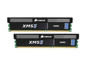 CORSAIR XMS 4GB (2 x 2GB) 240-Pin DDR3 SDRAM DDR3 1600 (PC3 12800) Desktop Memory Model CMX4GX3M2B1600C9