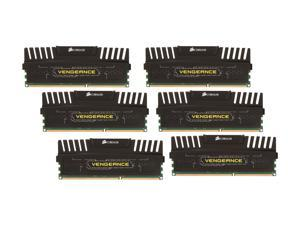 CORSAIR Vengeance 24GB (6 x 4GB) 240-Pin DDR3 SDRAM DDR3 1600 (PC3 12800) Desktop Memory Model CMZ24GX3M6A1600C9