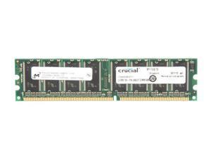Crucial 512MB 184-Pin DDR SDRAM DDR 400 (PC 3200) Desktop Memory Model CT6464Z40B