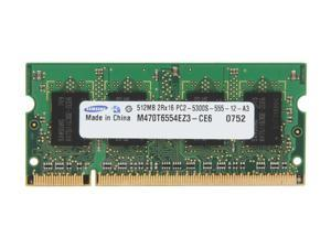 SAMSUNG 512MB 200-Pin DDR2 SO-DIMM DDR2 667 (PC2 5300) Laptop Memory Model M470T6554EZ3-CE6