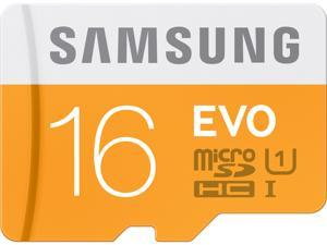 Samsung 16GB EVO microSDHC UHS-I/U1 Class 10 Memory Card with Adapter (MB-MP16DA/AM)