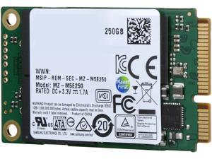 SAMSUNG 850 EVO mSATA 250GB SATA III 3D NAND Internal SSD Single Unit Version MZ-M5E250BW