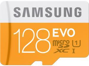 Samsung 128GB EVO microSDXC UHS-I/U1 Class 10 Memory Card with Adapter, Speed Up to 48MB/s (MB-MP128DA/AM) [Old Speed]