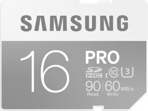 Samsung 16GB PRO SDHC UHS-I/U3 Class 10 Memory Card, Speed Up to 90MB/s (MB-SG16E/AM)