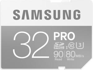 Samsung 32GB PRO SDHC UHS-I/U3 Class 10 Memory Card, Speed Up to 90MB/s (MB-SG32E/AM)