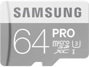Samsung 64GB PRO microSDXC UHS-I/U3 Class 10 Memory Card with Adapter, Speed Up to 90MB/s (MB-MG64EA/AM)